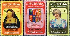 1982 Montserrat Diana 21st Birthday Specimen Set Fine Mint SG 542 4 Scott 484 6 Other British Commonwealth Empire and Colonial stamps Here