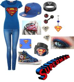 """""""Superman"""" by jacquelinehall on Polyvore"""