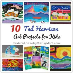 Ted Harrison thought it was a compliment that children could understand his art. That& why they& also love these Ted Harrison Art Projects for Kids! Kids Art Class, Art Lessons For Kids, Art Activities For Kids, Artists For Kids, Art Lessons Elementary, Projects For Kids, Art For Kids, Art Projects, 4th Grade Art