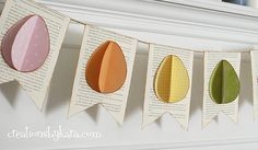 Guirnalda de papel para decorar la Pascua - Manualidades de papel y cartón - Manualidades para niños - Charhadas.com  http://charhadas.com/ideas/31135-guirnalda-de-papel-para-decorar-la-pascua