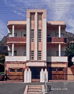 Exterior Apartment Building Art Deco 67 New Ideas Art Deco Decor, Art Deco Home, Art Deco Design, Building Art, Building Exterior, Art Nouveau, Bauhaus, Habitat Collectif, Streamline Moderne