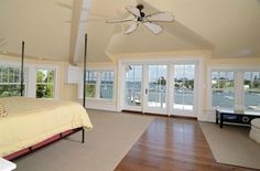 Master Bedroom with a view! With that view who cares what the rest of the room looks like.