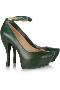 $230  McQ Alexander McQueen Burlesque leather platform pumps