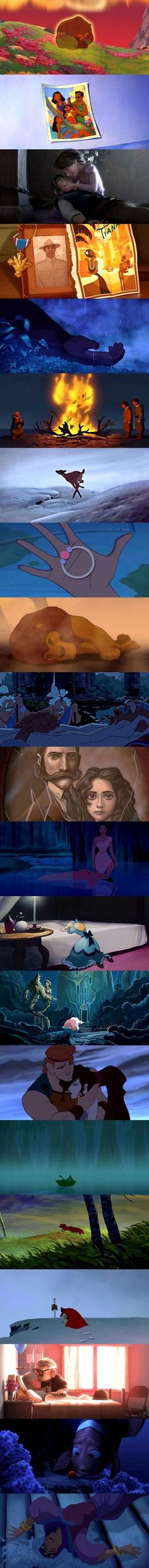 Juste les moments les plus tristes de Disney