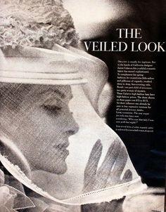 1961  Veil  Veiled Fashion Shots  Retro by SnowFireCandleCo, $6.00