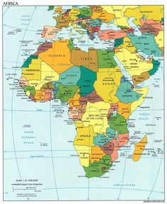 Africa And Asia Political Map Kenya, Tanzania, Paises Da Africa, South Africa, West Africa, Tunisia Africa, Monte Everest, Chobe National Park, African Babies