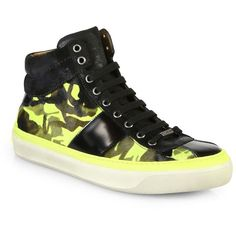 Jimmy Choo Camo Pony High-Top Sneakers