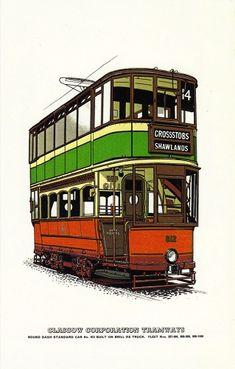 Glasgow Standard Tramcar No 812 Round Dash