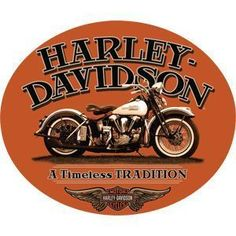 Harley Davidson Timeless Sign - Ande Rooney Harley Davidson Embossed Tin Sign Collection utilizes lithographed on tin process, this makes for a more detailed and inticate sign. The result is a reprodu