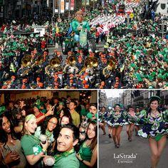 Os irlandeses sabem muito bem como celebrar e é no dia 17 de março que acontece uma das maiores festas de rua do mundo, o St. Patrick's Day – ou Dia de São Patrício. São Patrício é o padroeiro da Irlanda e, como este é um feriado religioso, muitas pessoas vão à missa neste dia. Mesmo assim, a verdadeira comemoração acontece nas ruas – e nos pubs – da capital Dublin, onde desfiles carnavalescos tomam conta dos espaços e nativos e turistas aproveitam para tomar algumas cervejas.