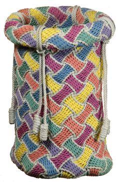 Gripfids and tools. Bradshaw Cordmaker for Ply-Split Braiding. Techniques of ply-splitting and making cords for Ply-splitting Crochet Stitches, Knit Crochet, Crochet Patterns, Textiles Techniques, Tapestry Crochet, Loom Knitting, Wool Yarn, Basket Weaving, Weaving Art