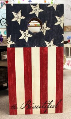 America the Beautiful - Cornhole Set. This would look great with the set Kenny already made me! Cornhole Designs, Wood Projects, Craft Projects, Wood Crafts, Diy Crafts, Diy Wood, Michael S, Cornhole Set, Custom Cornhole Boards
