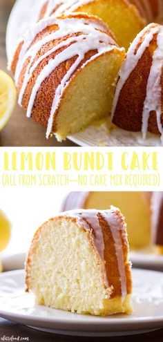This easy lemon bundt cake recipe is made without yellow cake mix this homemade lemon bundt is light and moist with fresh lemon flavor it makes a great easy easter dessert or spring and summer desert cake lemon dessert easter recipe recipe lemon tart Easy Easter Desserts, Spring Desserts, Summer Deserts, Easy Lemon Desserts, Easy Easter Recipes, Summer Dessert Recipes, Desert Recipes, Recipes Dinner, Brunch Recipes