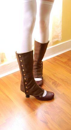 Custom Tall Spats by faitavec on Etsy, $71.00