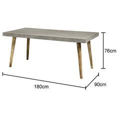Concrete Top Rectangular Table