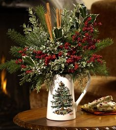 Fun table arrangement in Christmas Tree by Spode