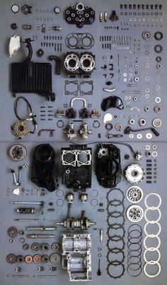¡Rápido! ¿En cuantos movimientos puedes tener el motor montado de nuevo?