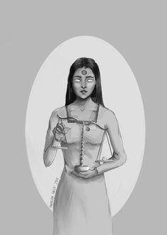 #digital #krita #headorheart #b&w #scale #drawing