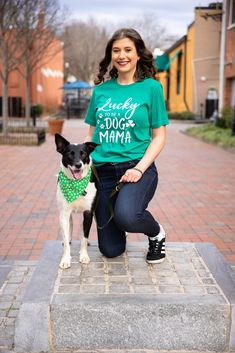 In Dog Beers Shirt, Lucky Dog Mom Shirt, St. Patrick's Day Shirt For Dog Mom, funny dog mom shirt, cute dog mom shirt, Cute Green T-Shirt, Dog Mom, Dog Mom Photo Ideas, Girl With Dog, dog mom tshirt, tails up pup, tailsuppup