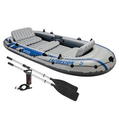 INTEX 68325 Excursion Folding Portable China Inflatable Boat with Outboard Motor