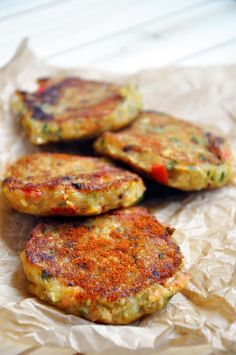 Vegan Lentil Cakes Veggie Patties (lentils, parsley, egg whites, nutritional yeast, bell peppers, paprika)