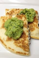 Eating Dinner With My Family: Black Bean & Goat Cheese Quesadillas With Guacamole