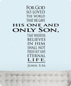 "30"" John 3:16 for God so Loved the World Wall Decal Sticker Cross Art Mural Home Décor Bible Scripture Quote WallPressions http://www.amazon.com/dp/B00JPIW7W2/ref=cm_sw_r_pi_dp_cfTZub01T3NNB"