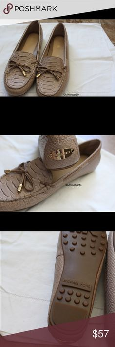 Michael Kors Moccasins Brand: Michael Kors Size: 9M Original price :$100 Color: See photos I have one avail in 8.5 also  My price is firm.If you have any questions please feel free to ask, but read the description first. As always, thanks so much for stopping by and have a great day!:) Michael Kors Shoes Moccasins