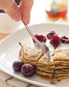 No Egg Pancake Recipe Banana. Banana Oatmeal Pancakes What Molly Made. The Best Protein Pancakes Recipe Pinch Of Yum. Banana Egg Pancakes, Banana And Egg, Pancakes Easy, Keto Pancakes, Cheesecake Pancakes, Oatmeal Pancakes, Blueberry Cheesecake, Protein Pancakes, Healthy Banana Recipes