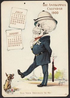 1899 Antikamnia Calendar Skeleton