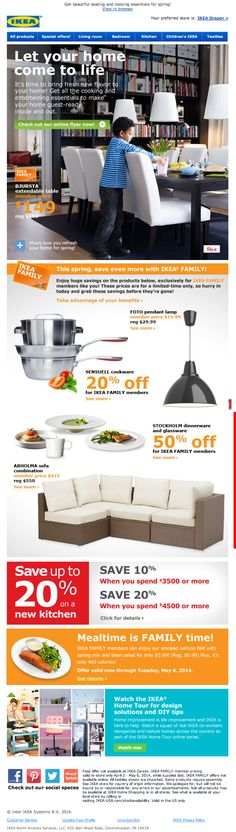 Ikea email 2014