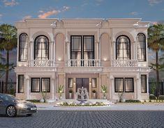 Spanish House Design, Classic House Exterior, House Outside Design, Building Elevation, Bungalow House Design, Information Architecture, Architecture Visualization, Interactive Design, Decoration