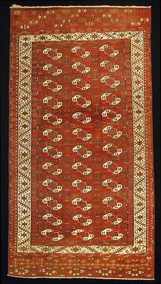 M. Tehrani Yomut Karadashli maincarpet 331 x 172cm end of 18th Century