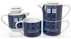Doctor Who Tardis Homeware Tea Set for One @lindsaydinsyday