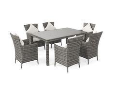Ensemble table et chaises de jardin en résine tressée Ceres S