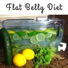 2 liters water 1 teaspoon freshly grated ginger 1 medium cucumber, sliced 1 medium lemon, sliced 12 small spearmint leaves Place all ingredients in a large pitcher , let blend together overnight . The next day drink the whole pitcher during the course of the day .