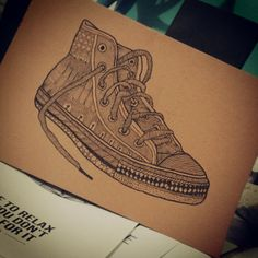 CONVERSE SHOE ILLUSTRATIONS by VINISH KUMAR, via Behance
