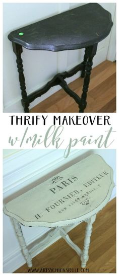 Thrifty Makeover with MMS Milk Paint Furniture Diy, Furniture Projects, Refurbished Furniture, Refinishing Furniture, Milk Paint, Home Decor, Paint Furniture, Shabby Chic Furniture, Table Makeover