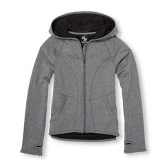 Girls PLACE Sport Long Sleeve Full-Zip Hooded Performance Jacket