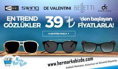 TopTen, Swing, De Valentini, Belletti, Daniel Klein Marka, En Trend Gözlükler 39.99 TL'den Başlayan Fiyatlarla..  http://www.hermarkabizde.com/index.php?dispatch=collections.product&collection_id=7996&utm_campaign=En+Trend+G%C3%B6zl%C3%BCkler+39%2799+TL%27den+Ba%C5%9Flayan+Fiyatlarla%21