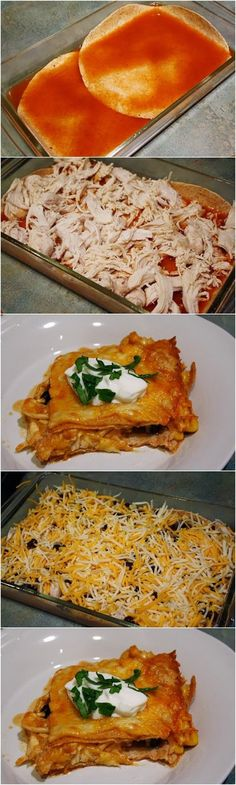 Fun in Pictures: Skinny Chicken Enchilada Casserole