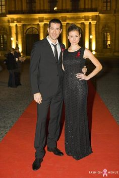 Jo and Kathrin Hess back in 2009 Aids Gala Fashion Menue Würzburg