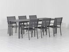R&S Soria/Montano 220cm dining tuinset 7D stapelb. Royal Grey van R&S design