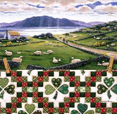 """Double Irish Chain"" Quiltscape by Rebecca Barker"