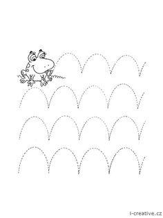grafomotorika list - žába