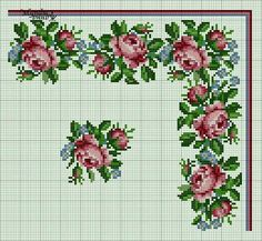 Cross Stitching, Cross Stitch Embroidery, Embroidery Patterns, Cross Stitch Rose, Cross Stitch Flowers, Cross Stitch Designs, Cross Stitch Patterns, Pixel Design, Chart Design