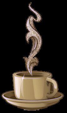 Coffee glitter gifs