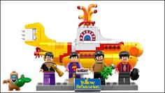 The Yellow Submarine Lego Set set looks awesome once put together. You can see here how colorful and cool it really is.