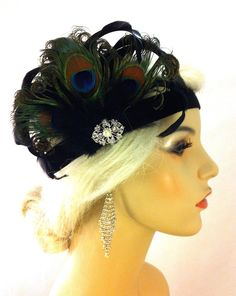 *I HAVE ONE READY TO SHIP NOW*    Visit the shop here https://www.etsy.com/shop/IceGreenEyes      ~Curled Black Iridescent Coque Feathers~  ~Hand