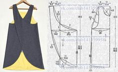 modelagem, MODA patrones, costura, moldesprontos, fashions - Her Crochet Sewing Aprons, Dress Sewing Patterns, Sewing Patterns Free, Sewing Clothes, Sewing Tutorials, Clothing Patterns, Diy Clothes, Skirt Patterns, Dress Tutorials